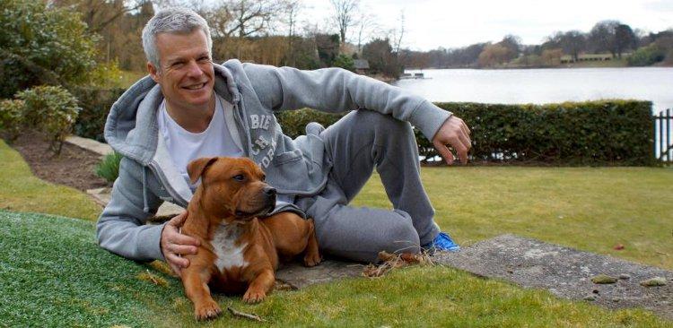 Nick Freeman and his Staffy